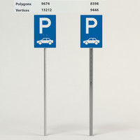 3d parking facilities passenger cars model