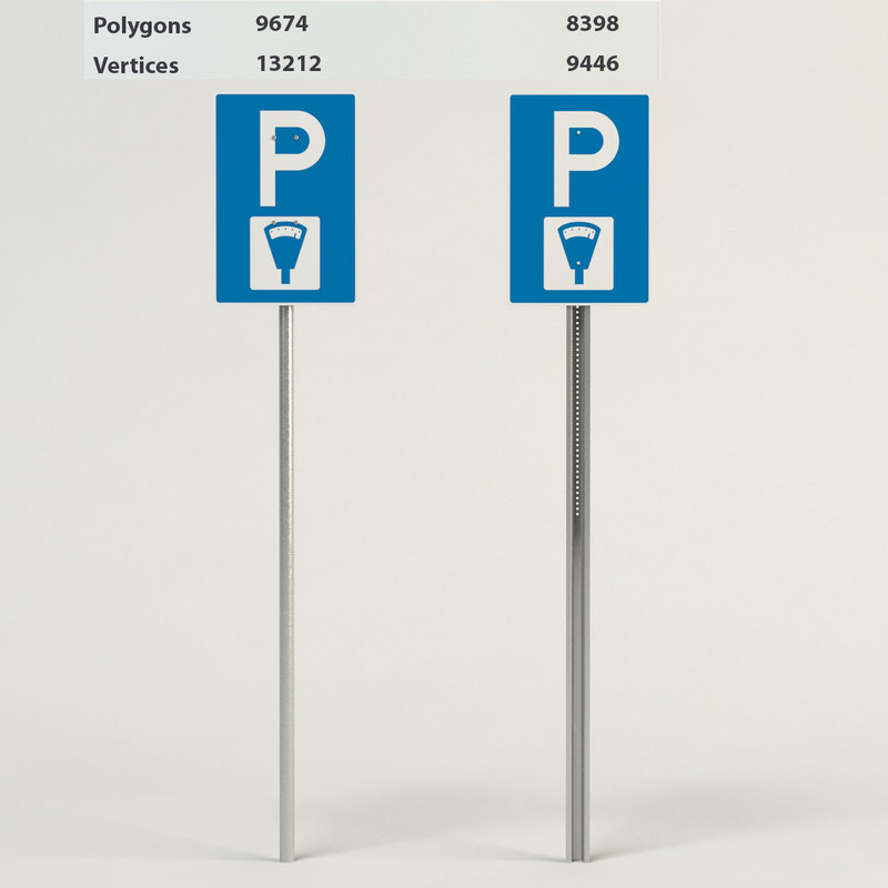 3d parking meter model