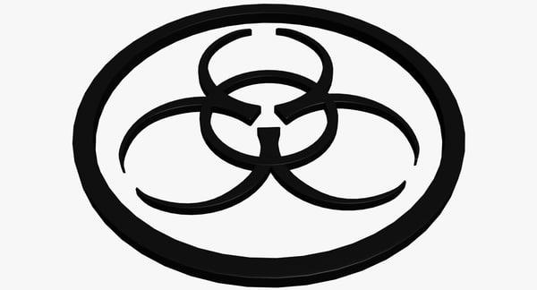 symbol biohazard 3d model