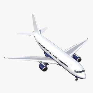 airliner plane airplane 3d model
