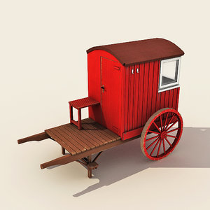 3d model lifeguard station wheels -