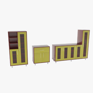 3d model of set closets