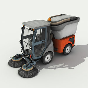 3d street sweeper - model