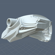 3d futuristic handgun model
