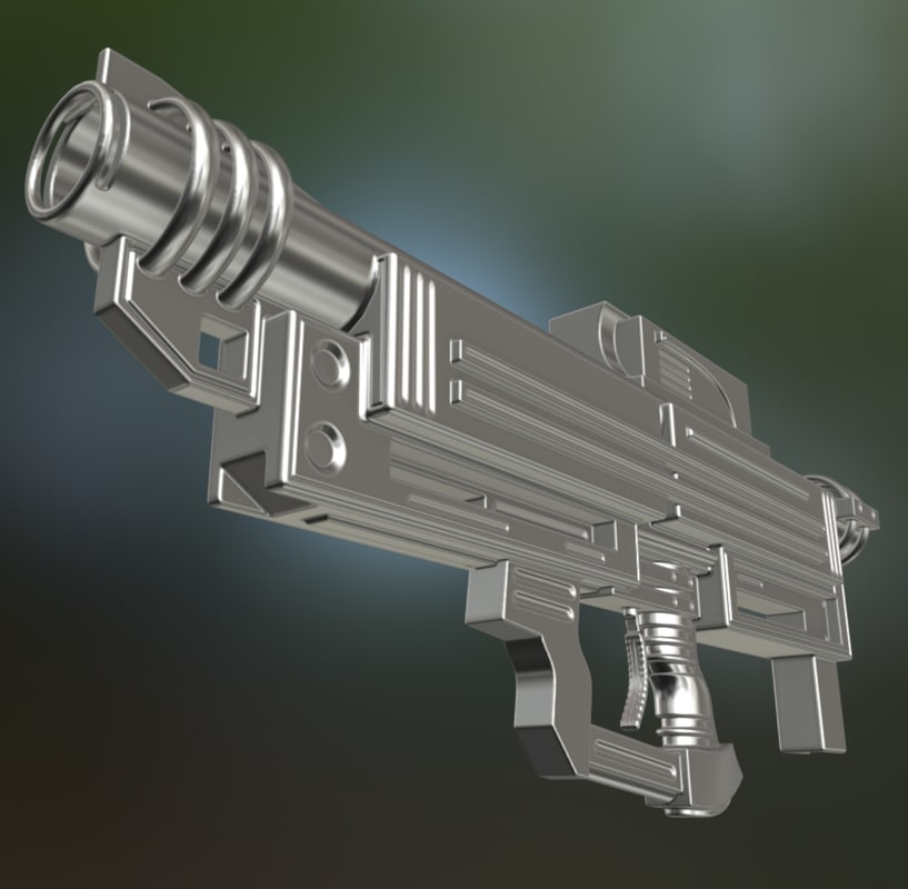 3d heavy blaster gun model