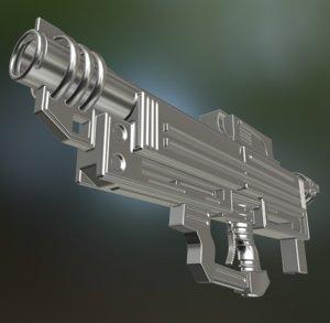 3d heavy blaster gun model