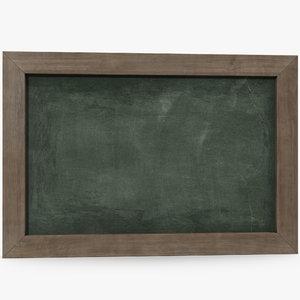 3d model slate board green