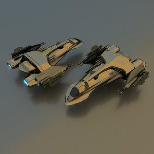 3d model gunship