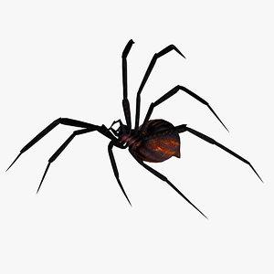 3d spider animation model