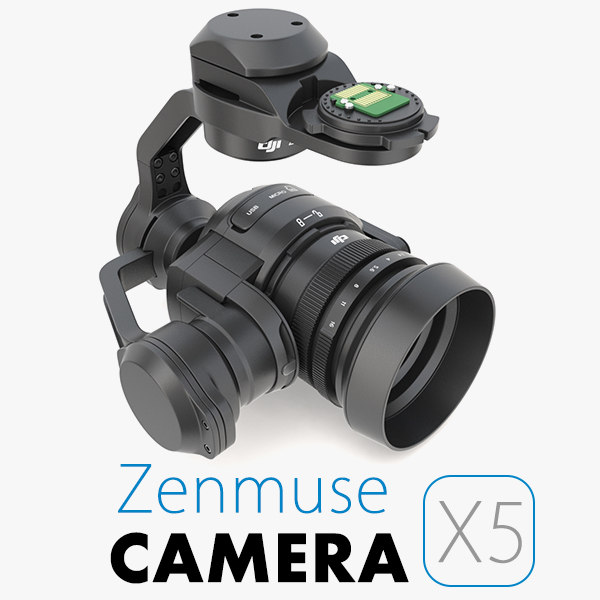 dji zenmuse x5 camera 3d 3ds