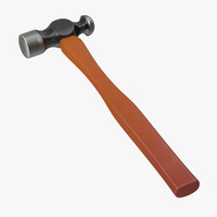 3d model ball peen hammer