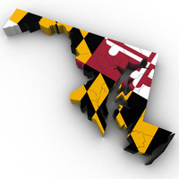 3d political maryland