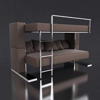 3d model of transforming sofa