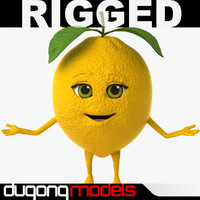 max dugm07 rigged cartoon lemon