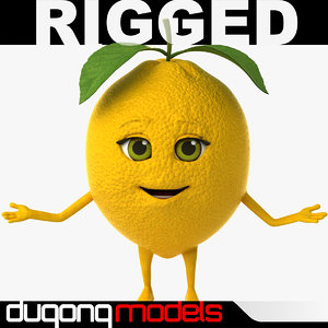max dugm07 rigged cartoon lemon