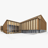 3d sport building exterior model