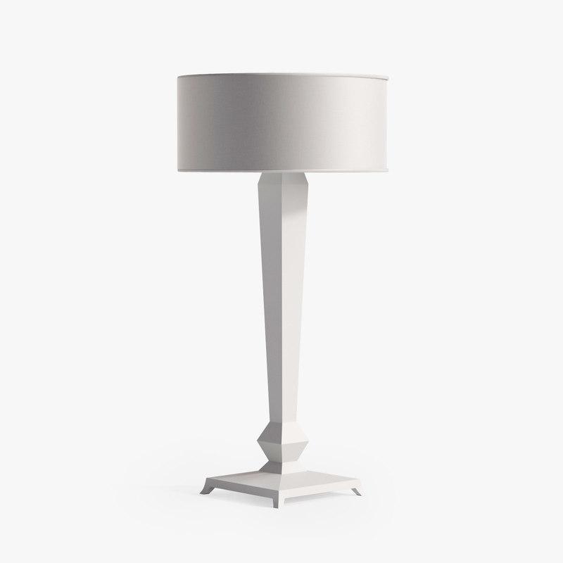 3d model christopher obelisk table lamp