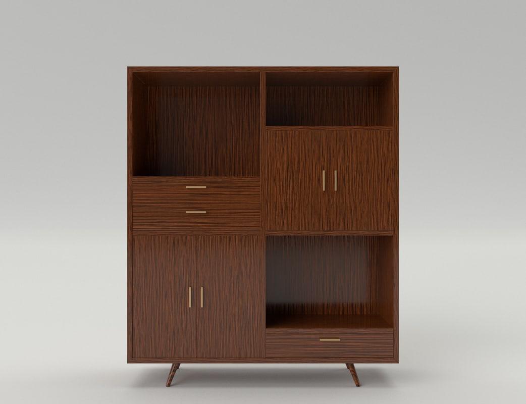 3d closet dining room model for Dining room 3d model