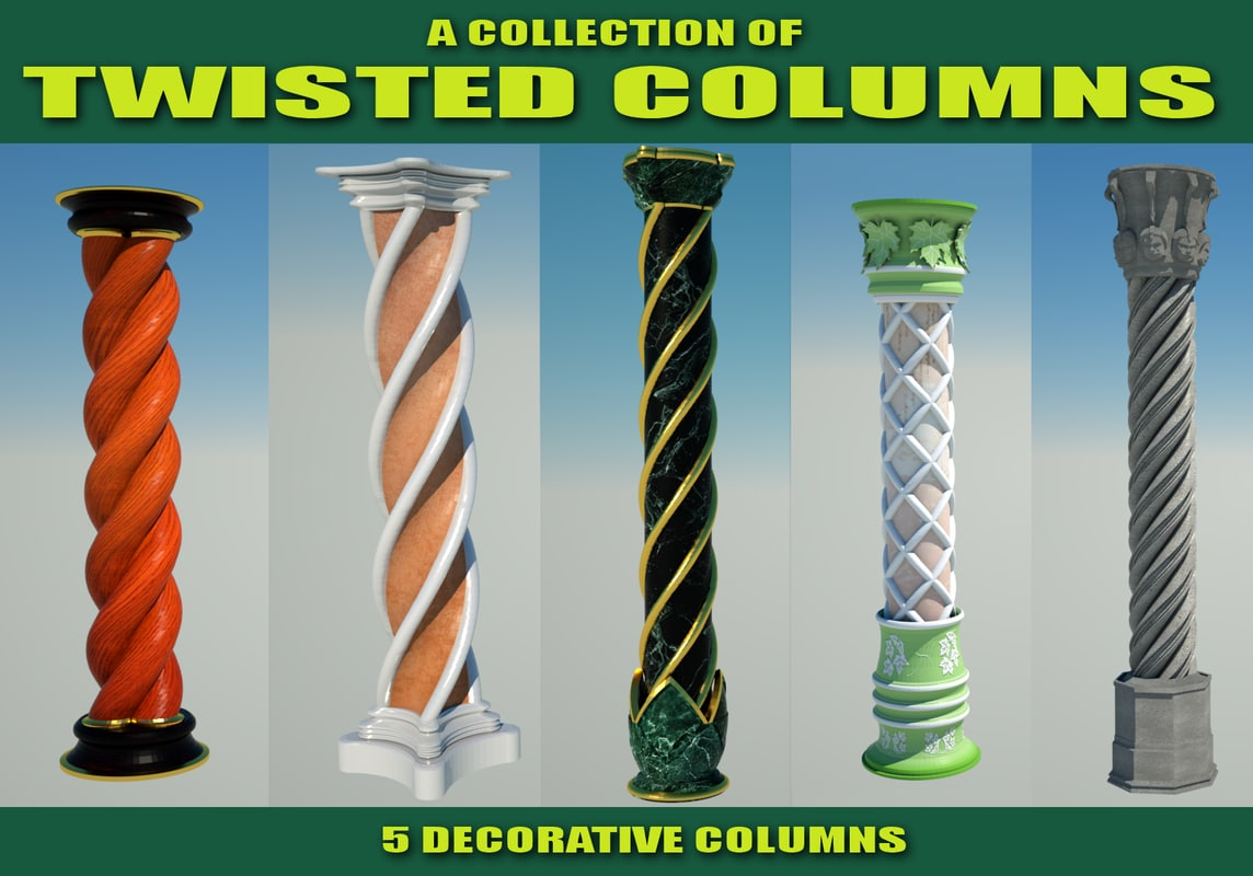 3d twisted columns