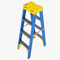 stepladder double sided 3d max