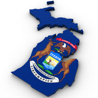 political michigan 3d max