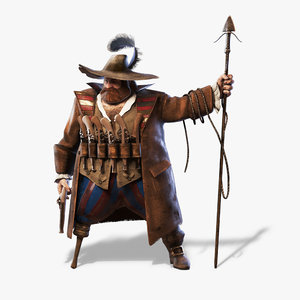 3d realtime old pirate