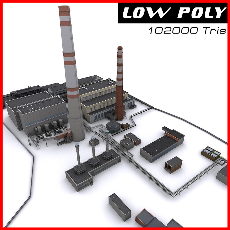 3d thermal power station model