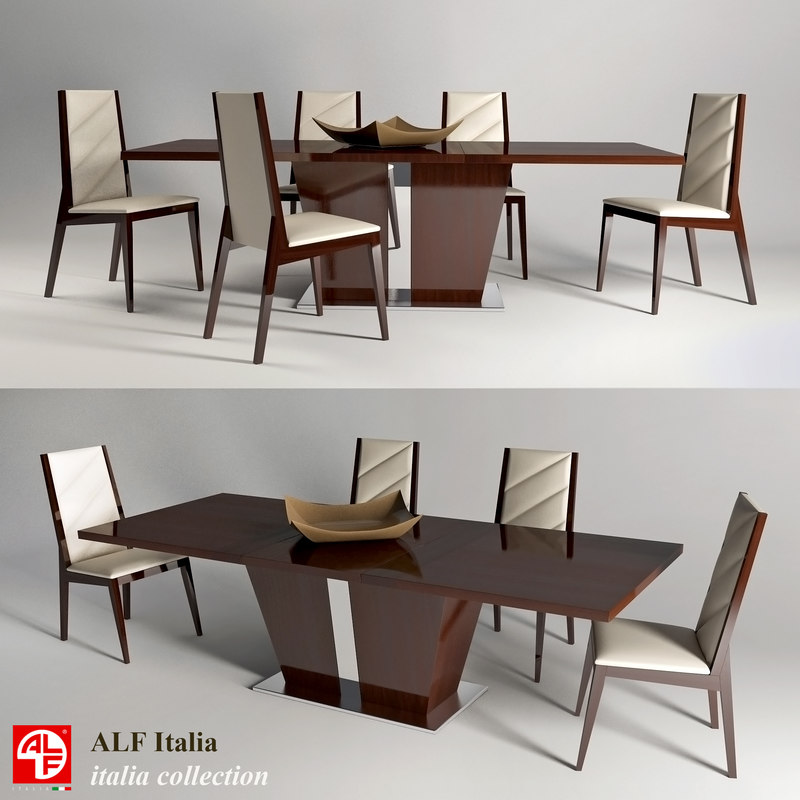 table chairs italia colection 3d model
