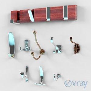 on-wall hooks brass max