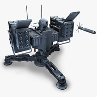 3d 3ds missile turret -