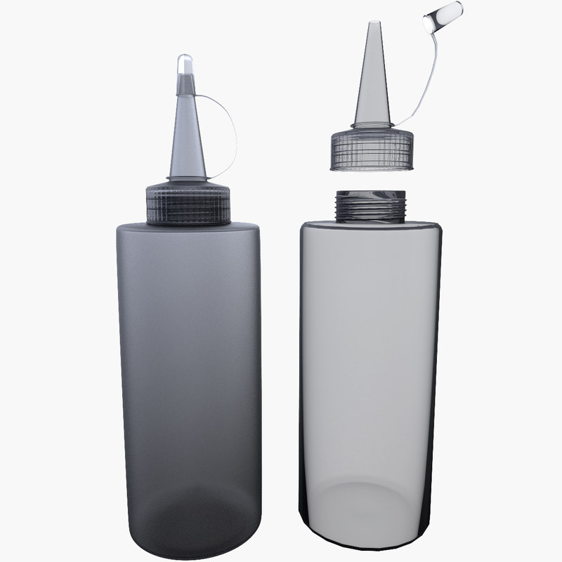 2 glue bottles 3d 3ds