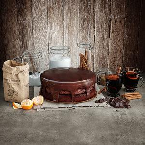 cake food dessert 3d model
