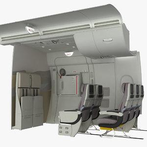 3d emergency exit crew seat model