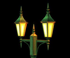 lamp post object 3d model