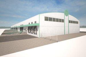3d model cargo magazine building
