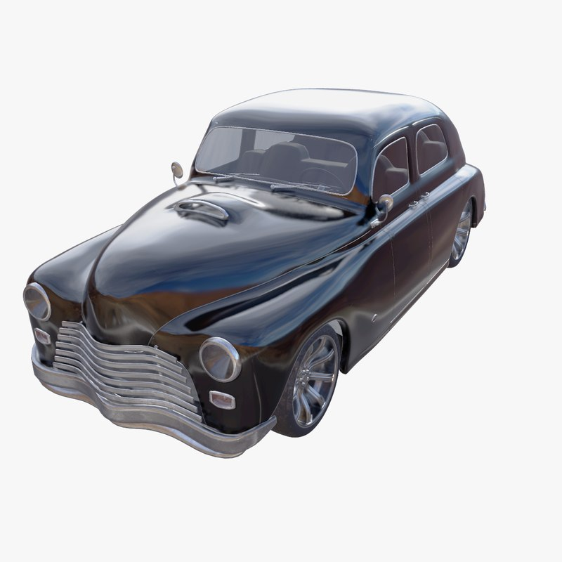 3d model real time generic retro car