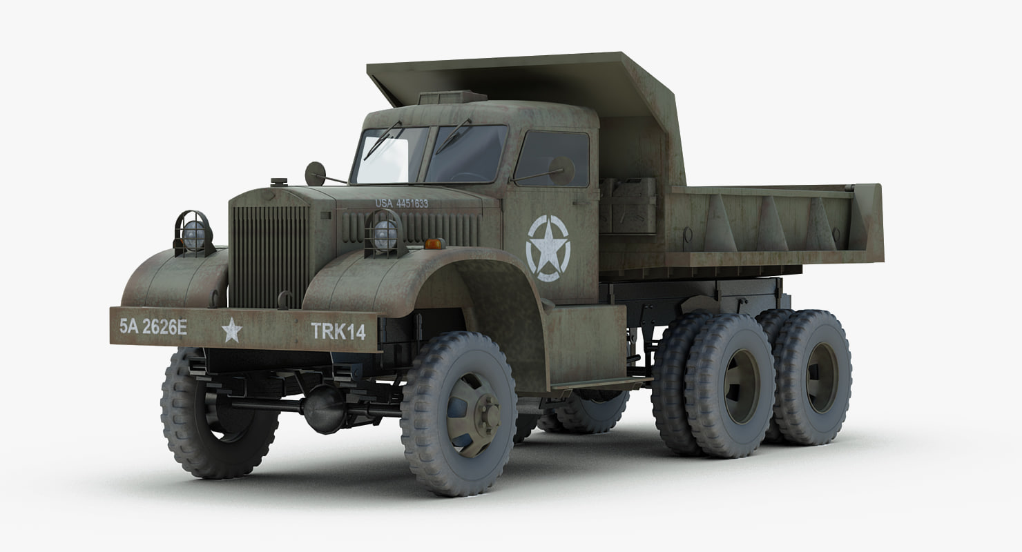 ww2 diamond t dump truck 3d model