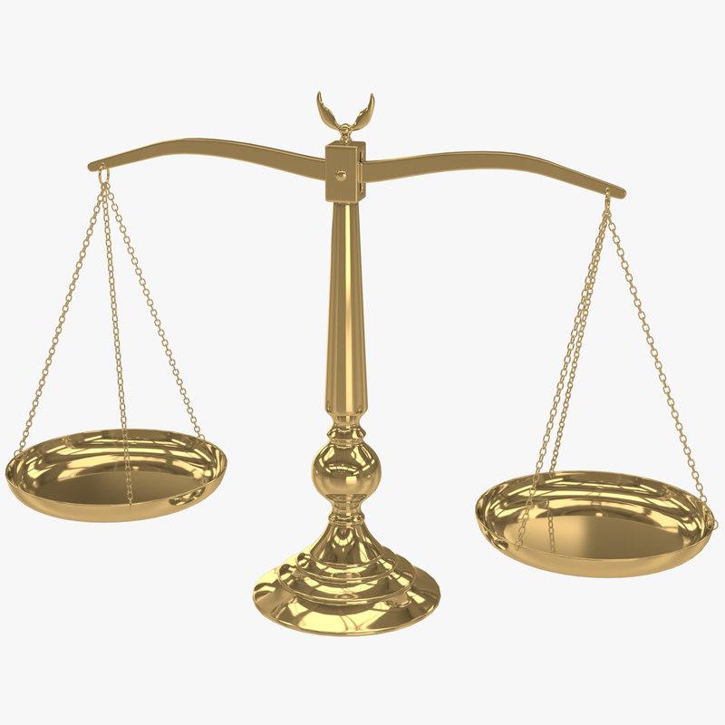 3d balance scale
