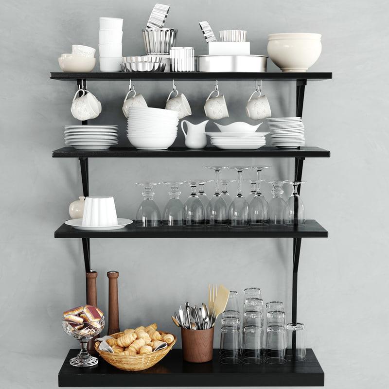 3d kitchen ware model