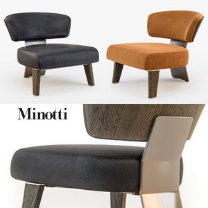 3d max minotti creed armchair wood
