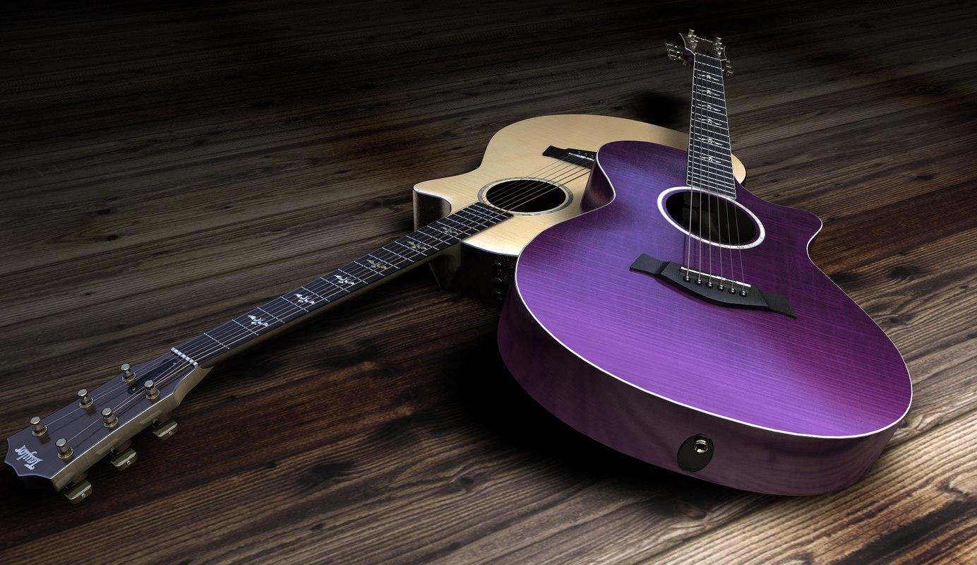taylor acoustics guitar dxf