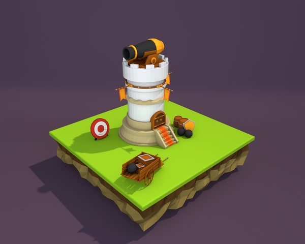 tower defence 3d model