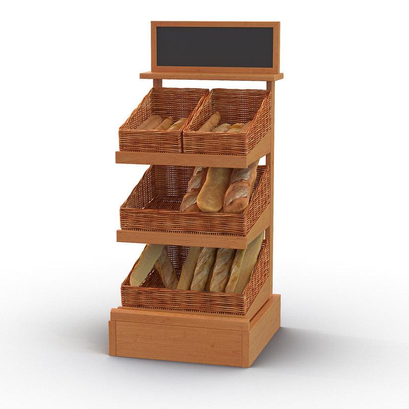 bakery display 2 3d max
