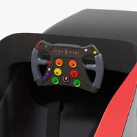 3d model of formula cockpit