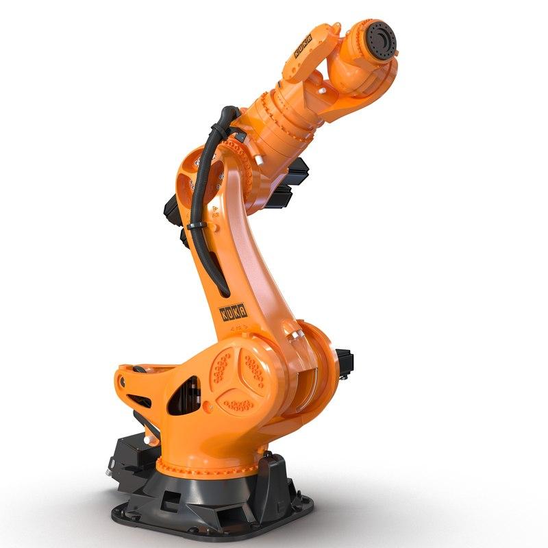 kuka robot titan rigged 3d model