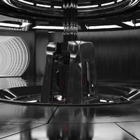 3d sci fi interior