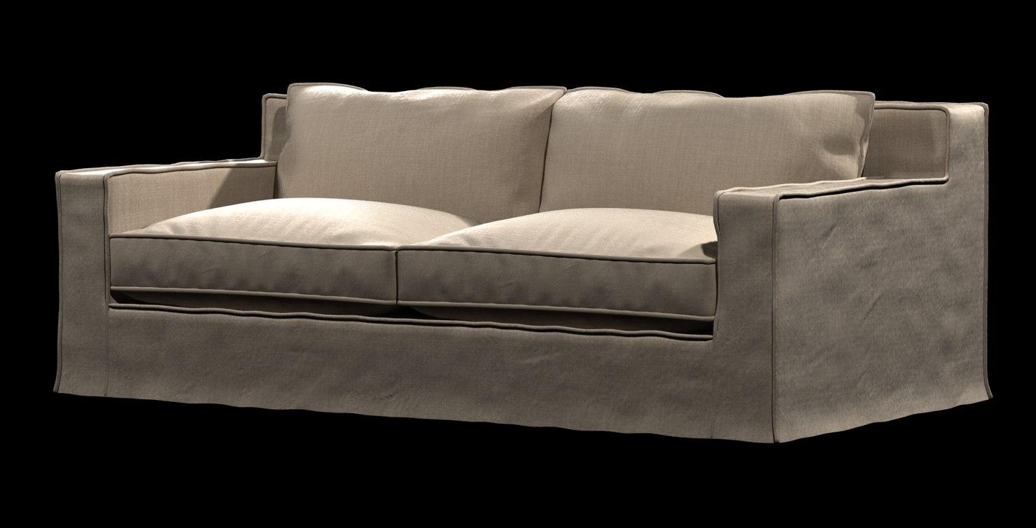 3d model sofa capri slipcovered