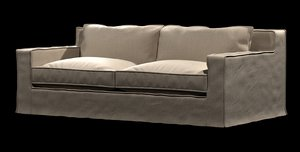 3d model sofa capri slipcovered