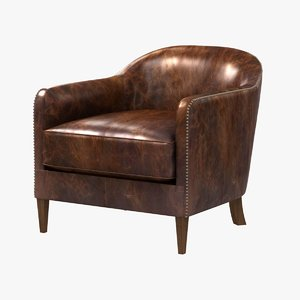 chair 1950s french tuxedo 3d max