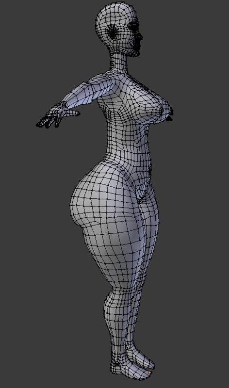 3d woman base mesh